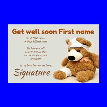 Get Well Soon Card Free Template Printable Greetings Discount