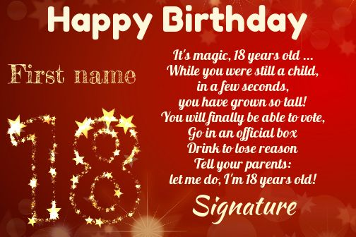Excellent Happy Birthday Card 18 Years Old Free Template Card 2048 Funny Birthday Cards Online Fluifree Goldxyz
