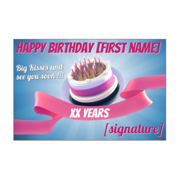 40th Birthday Card Free Printable Template Or For Send By E Card