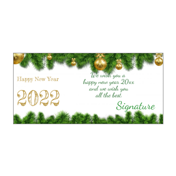 Happy New Year Cards 2021 free template printable
