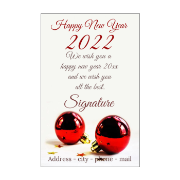 Last Day To Mail Christmas Cards 2021 Happy New Year Cards 2021 Free Template Printable