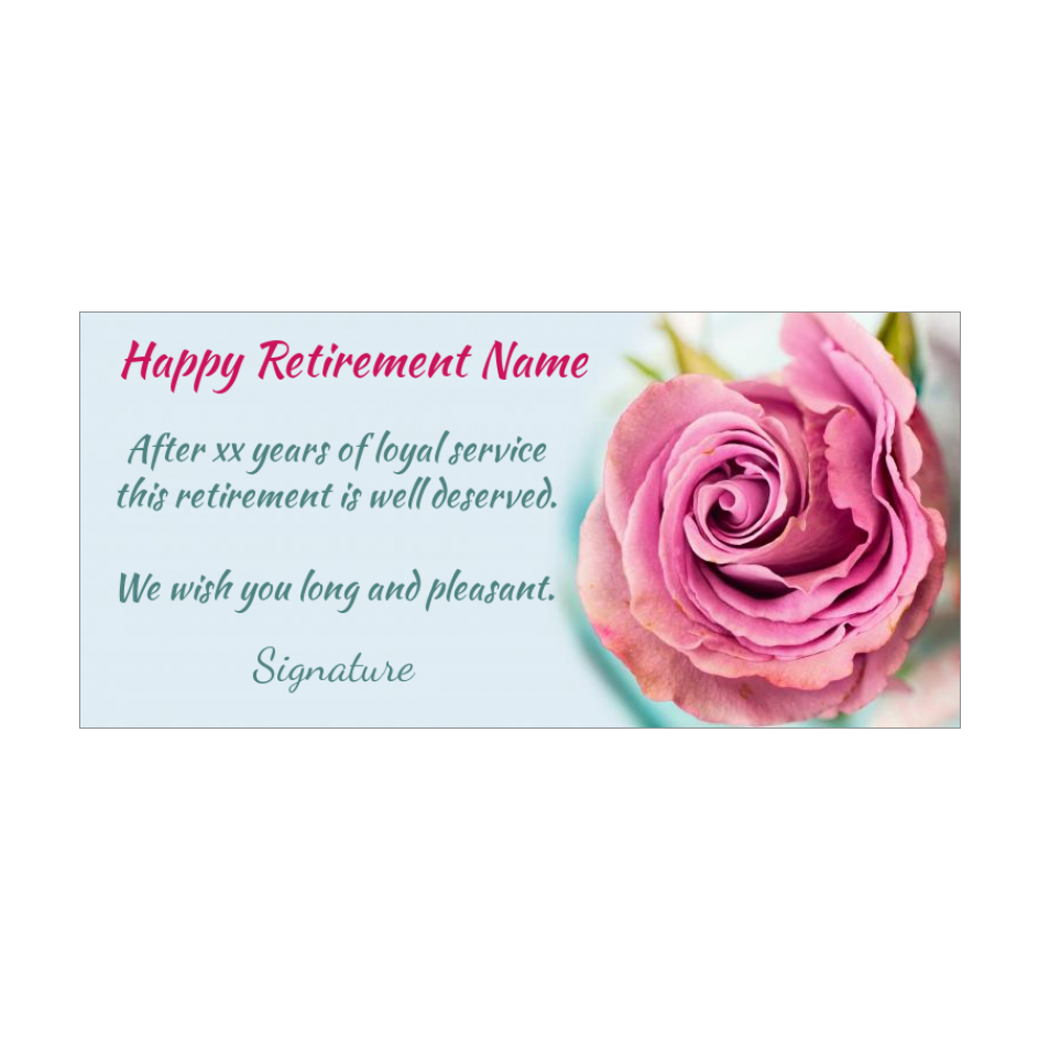 Card Congratulations Wishes Retirement Flower Rose Free Template Card 2315