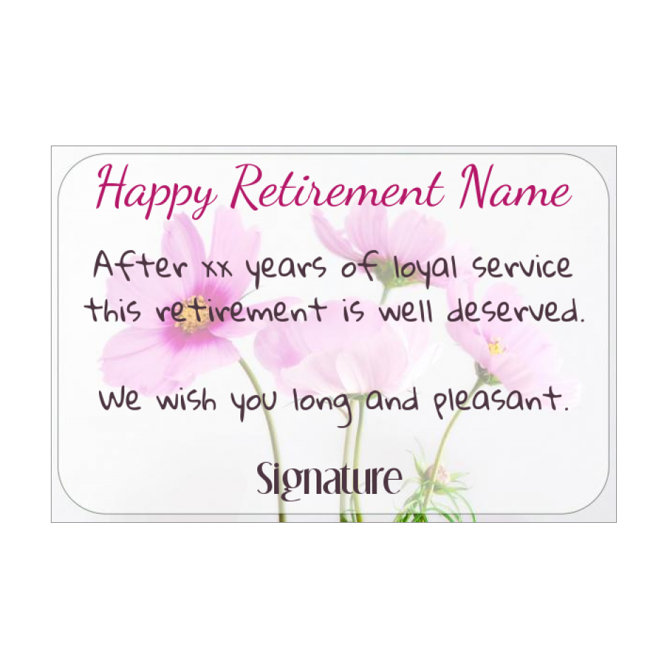 Card Congratulations Wishes Retirement Flower Rose free ...