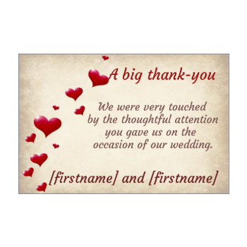 Wedding Thank You Cards Free Templates On Greetings Discount