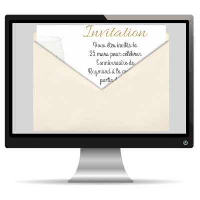 invitation d'anniversaire par e-mail